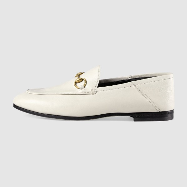 White Vintage Buckle Loafers for Women image 3