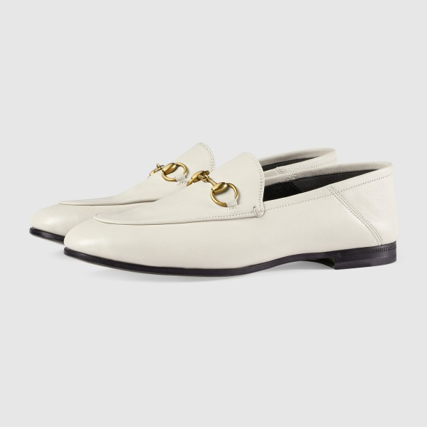 White Vintage Buckle Loafers for Women image 1