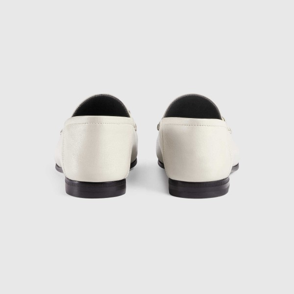 White Vintage Buckle Loafers for Women image 4