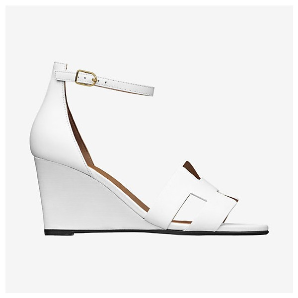 White Wedges Sandals Open Toe Ankle Strap Sandals image 2