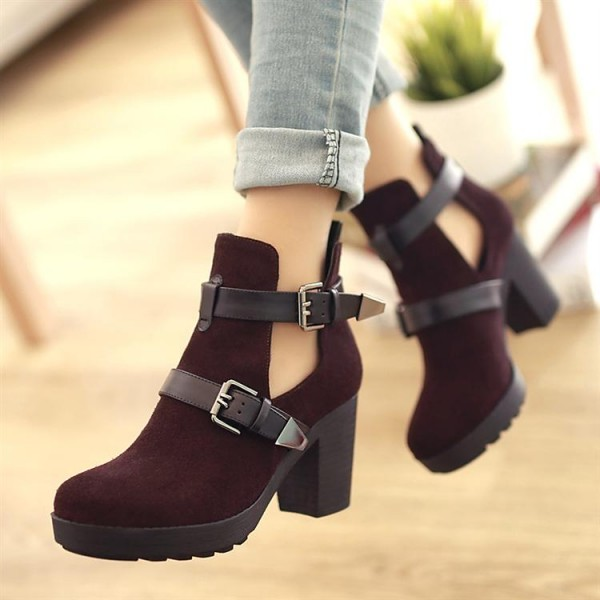 Women's Black Suede Stylish Boots image 1