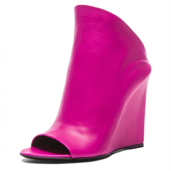 Orchid Heeled Wedges Open Toe Mules US Size 3-15 image 1