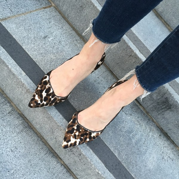Women's Suede D'orsay Pumps Leopard Print Heels Stiletto Heels Shoes image 3