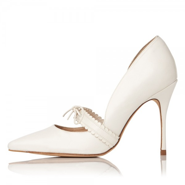for whole family discount shop lovely luster Women's White Mary Jane Pumps Pointy Toe Stiletto Heels Office Shoes