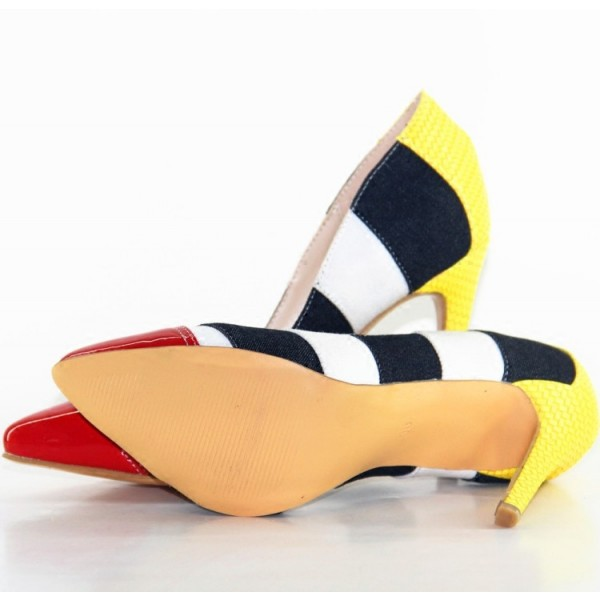Women's Multi Colors Stilettos High Heel Pumps image 5