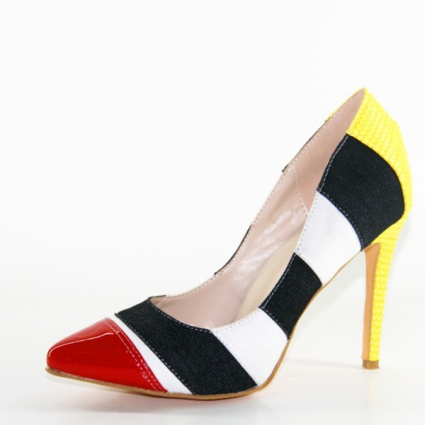 Women's Multi Colors Stilettos High Heel Pumps image 6