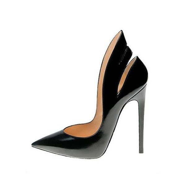 Black Office Heels 5 Inch Stilettos Heels Pumps for Office Ladies image 1