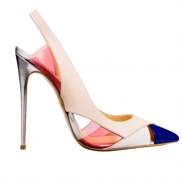 Multi-color Slingback Pumps Pointy Toe Stiletto Heels for Ladies image 4