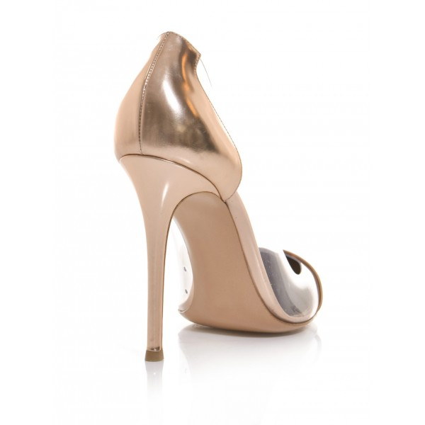 Nude Pointed Toe Pumps image 4