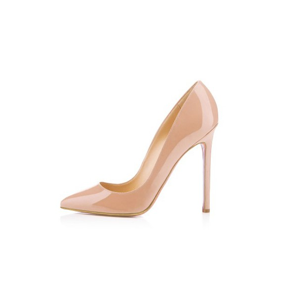 Women's Nude Classic Pointy Toe Stiletto Heel  Pumps Office Heels image 3
