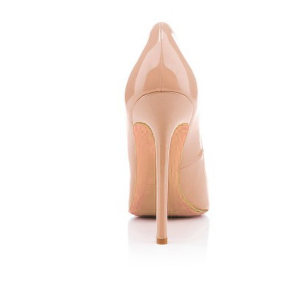 Women's Nude Classic Pointy Toe Stiletto Heel  Pumps Office Heels image 4