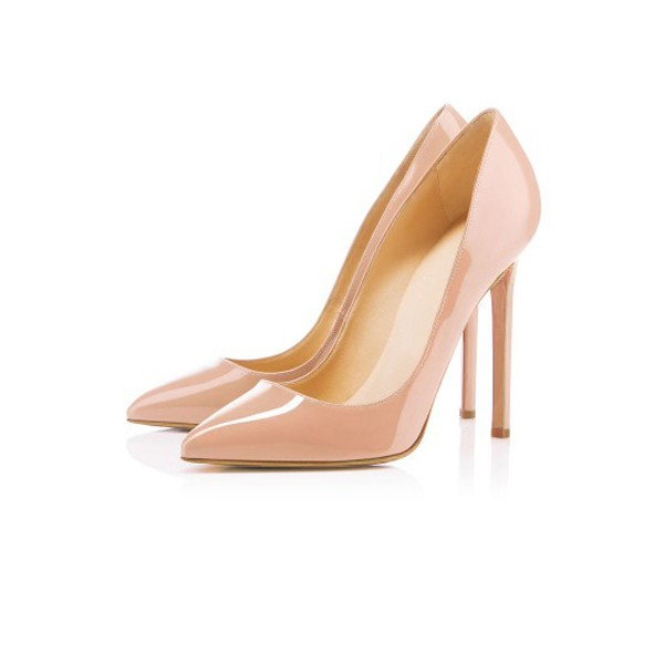 Women's Nude Classic Pointy Toe Stiletto Heel  Pumps Office Heels image 1