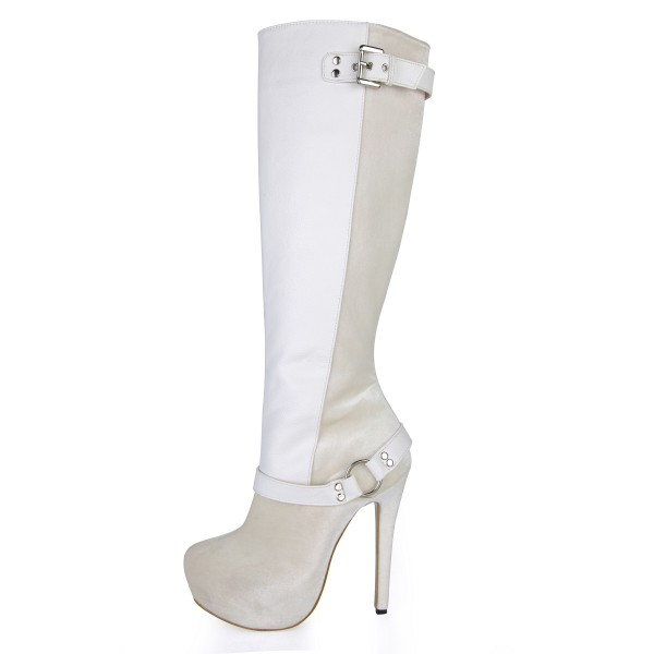 Lillian White Buckle Boots image 3