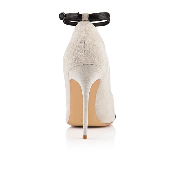 Salome Beige Ankle Strap Boots image 2