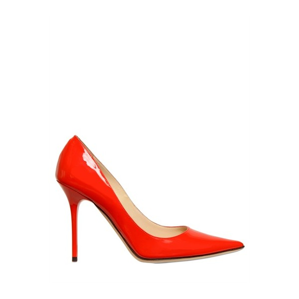 Women's Red Stiletto Heels Pointy Toe Patent Leather Sexy Office Heels image 2