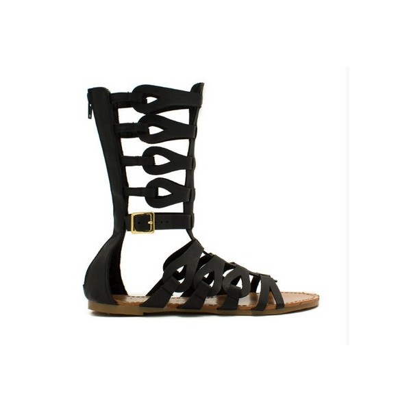 Black Gladiator Sandals Open Toe Comfortable Flats for Women image 2