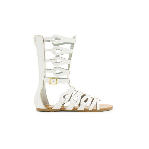 Women's Lillian White Flat Gladiator Sandals image 4