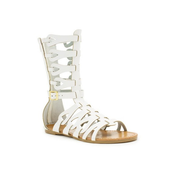 Women's Lillian White Flat Gladiator Sandals image 3