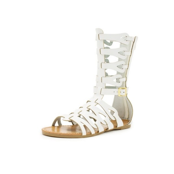 Women's Lillian White Flat Gladiator Sandals image 1