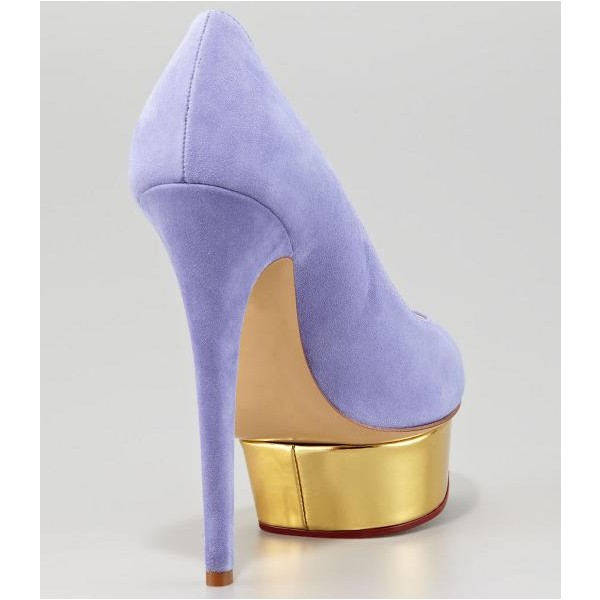 Women's Viola Purple Low-cut Uppers Stiletto Pumps  Platform Heels image 3