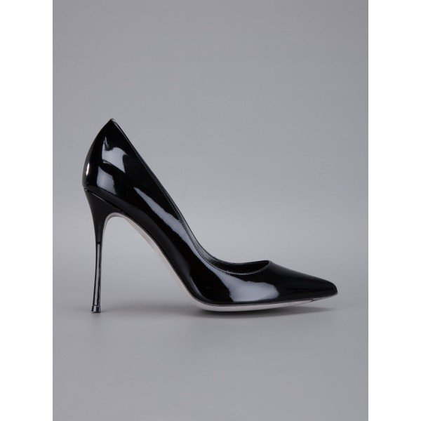Black Stiletto Heels Pumps Commuting Low-cut Uppers Office Shoes image 2