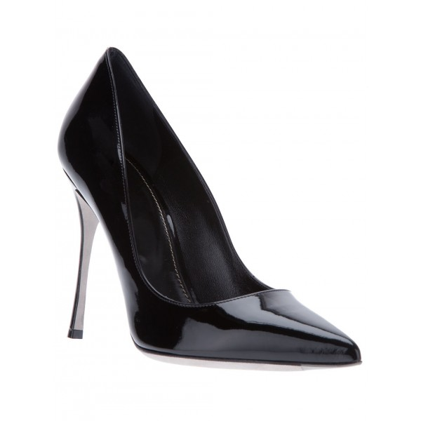 Black Stiletto Heels Pumps Commuting Low-cut Uppers Office Shoes image 3