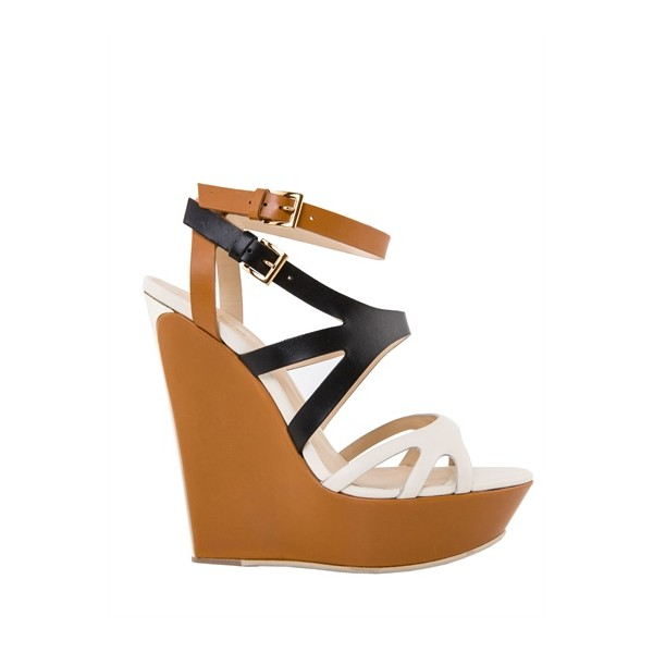 Multi-color Wedge Sandals Open Toe High Heels Shoes image 3