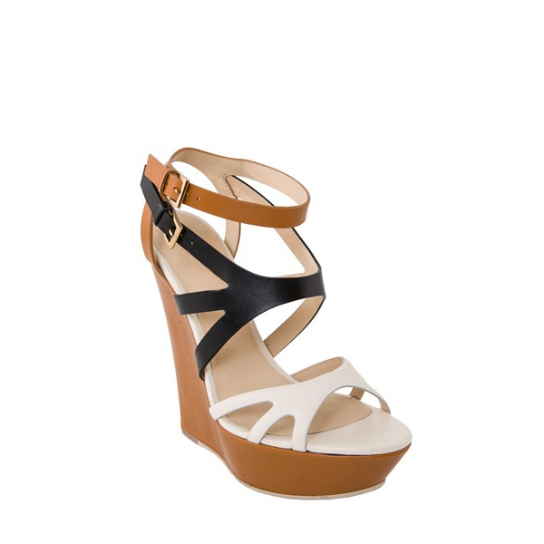 Multi-color Wedge Sandals Open Toe High Heels Shoes image 4