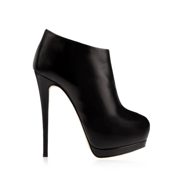 Black Fall Boots Closed Toe Platform Stiletto Heel Fashion Booties image 3