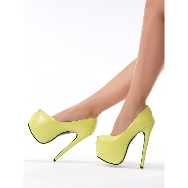 Women's Yellow Metal Chains Ankle Strap Stiletto Heel Pumps Shoes image 5