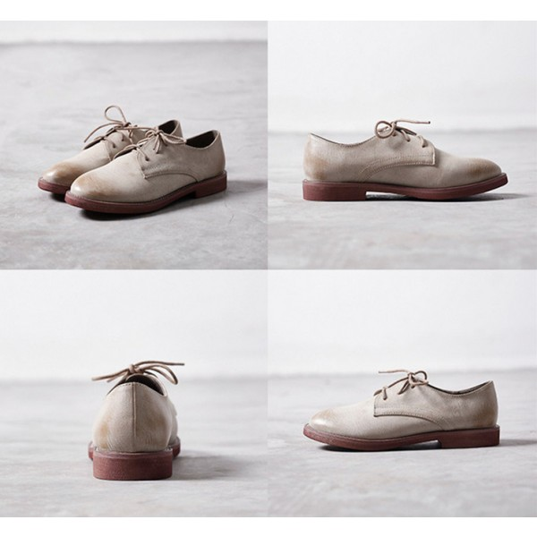 Comfortable Vintage Shoes Lace-up Oxfords for School image 2