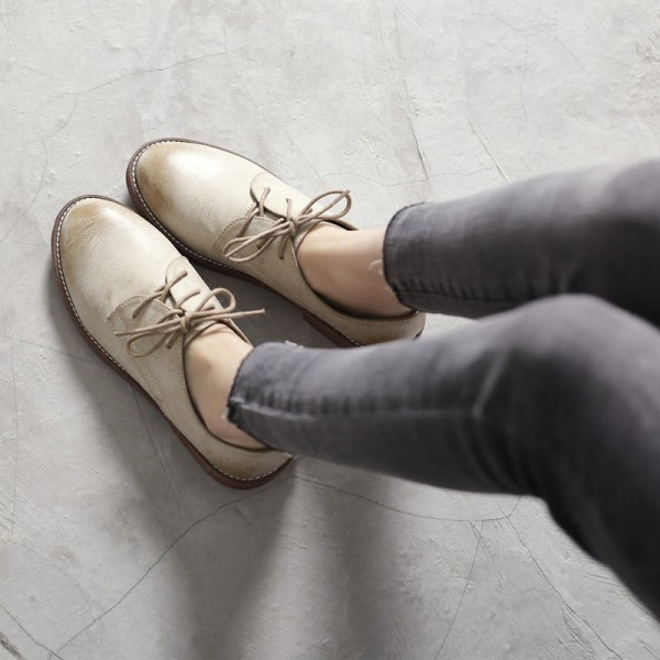 Comfortable Vintage Shoes Lace-up Oxfords for School image 1