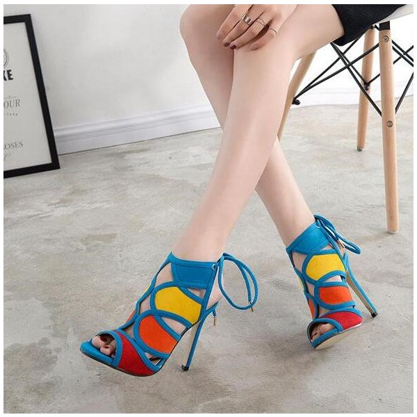 Women's Light Blue Slingback Heels Stiletto Heel Sandals image 1