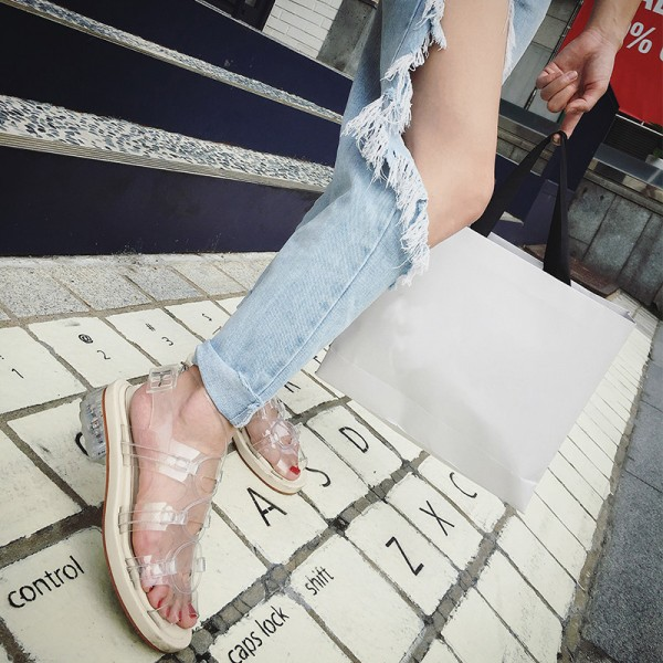 Clear Comfortable Flats Slingback Sandals image 7