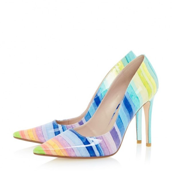 Women's Colorful 3 Inch Heels Stiletto Heel Pointed Toe Pumps Shoes image 1