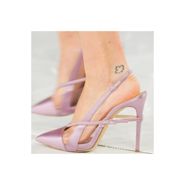Women's Orchid Slingback Pointed Toe Stiletto Slingback Heels Sandals image 2