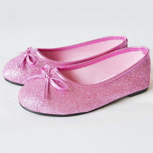 Women's Pink with Bow Comfortable Flats Shoes image 1