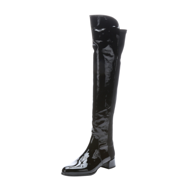 Cat Woman Black Chunky Heel Boots Patent Leather Knee High Boots for Halloween image 1