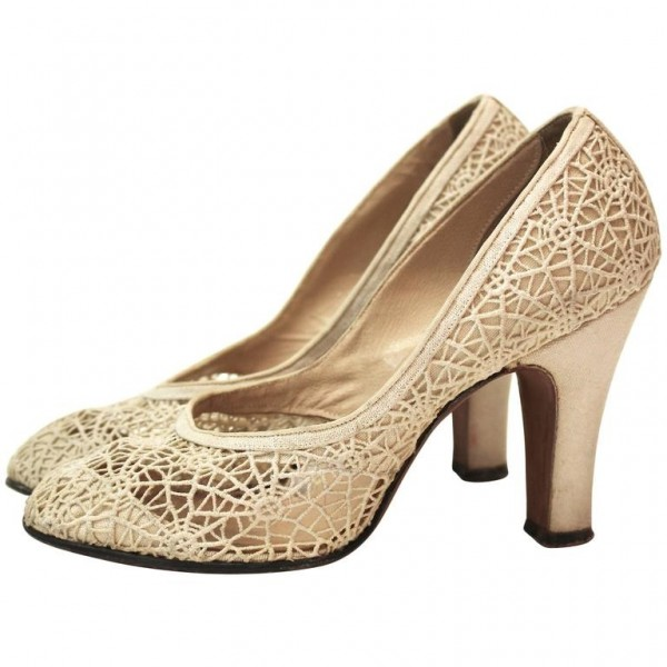 Spider Man Khaki Lace Web Chunky Heels Pumps for Halloween image 1