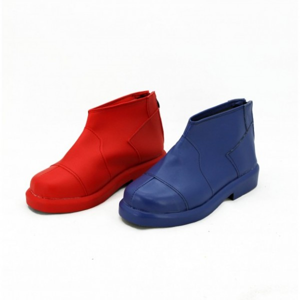 Harley Quinn Red&Blue Ankle Vintage Boots for Halloween image 1