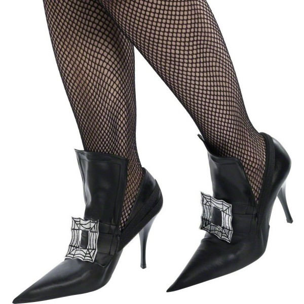 Women's Black Witch Costumes Halloween Buckle Stiletto Heels Pumps image 1