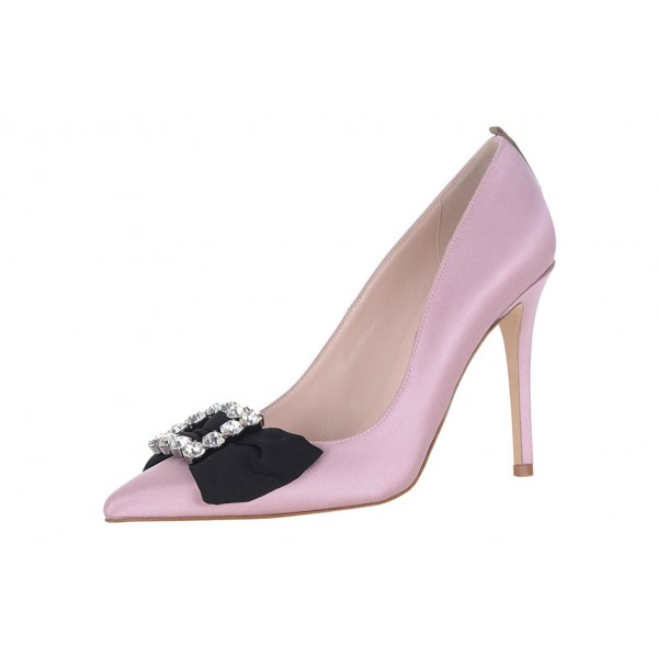 Women's Pink Stiletto Heels Pointy Toe Pumps Dress shoes image 1