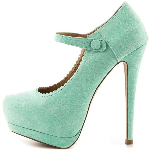 Green Mary Jane Pumps Closed Toe Suede Platform High Heels Shoes image 1