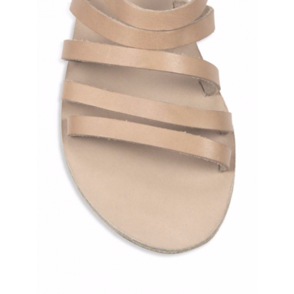 Nude Gladiator Sandals Open Toe Flats  image 2