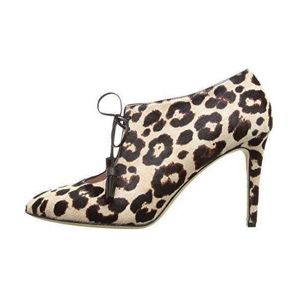 Leopard Print Boots Lace-up Cutout Stiletto Heels Ankle Booties image 2