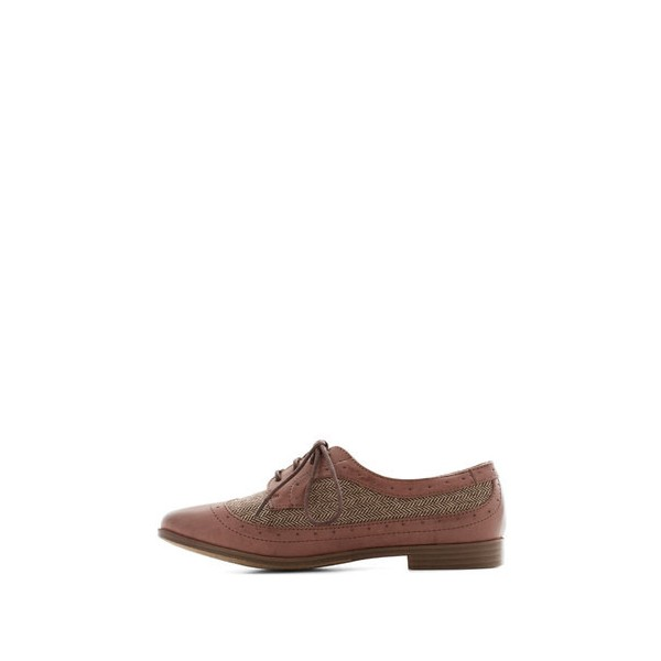 Pink Lace-up Vintage Women's Oxfords& Brogues image 3