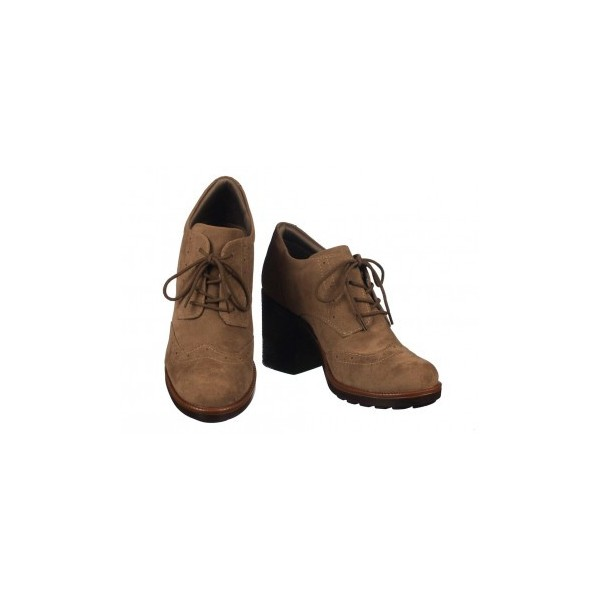 Brown Non-slip Lace-up Vintage Shoes Women's Brogues image 1