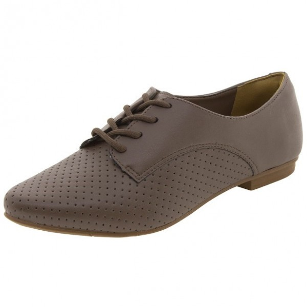 Brown Vintage Shoes Comfortable Oxfords for Women image 1