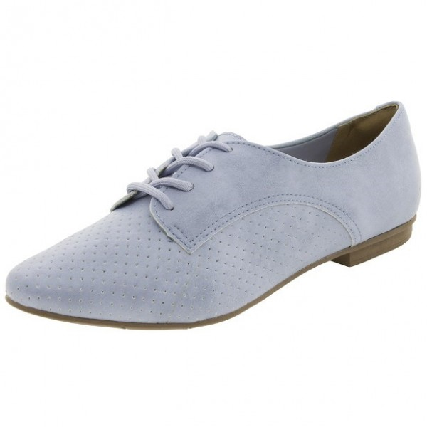 Light Blue Women's Oxfords Lace-up Comfortable Flats Office Shoes image 1
