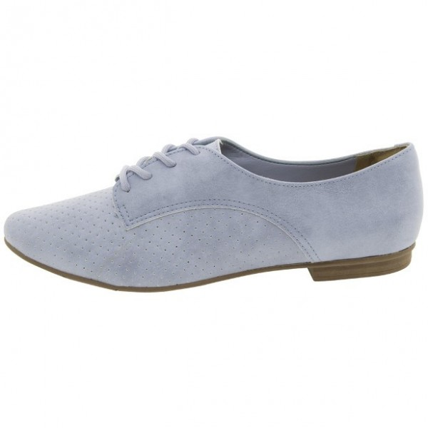 Light Blue Women's Oxfords Lace-up Comfortable Flats Office Shoes image 2
